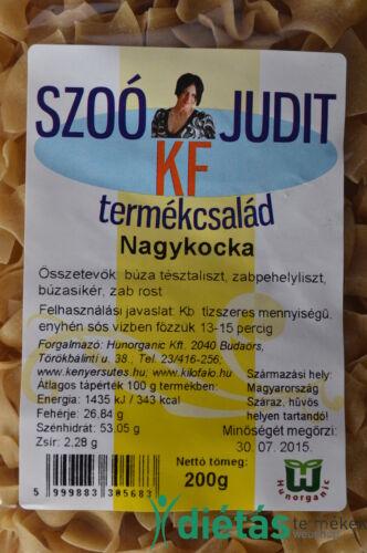 Szoó Judit - Kilófaló - Szénhidrátcsökkentett NAGYKOCKA tészta (tojásmentes) 200g