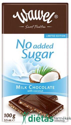Wawel cukormentes tejcsokoládé kókusszal 100g