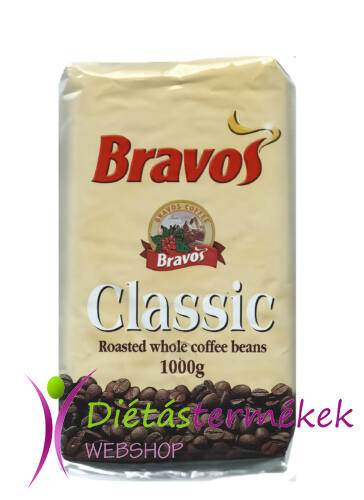 Bravos classic szemes, pörkölt kávé 1000g