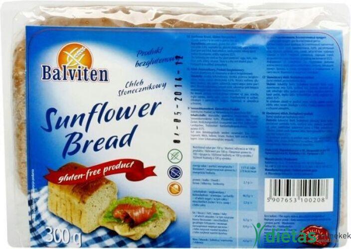 Balviten napraforgós kenyér (gluténemntes, tejmentes, tojásmentes) 300g