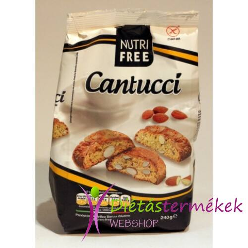 Nutri Free Cantucci gluténmentes keksz 240g